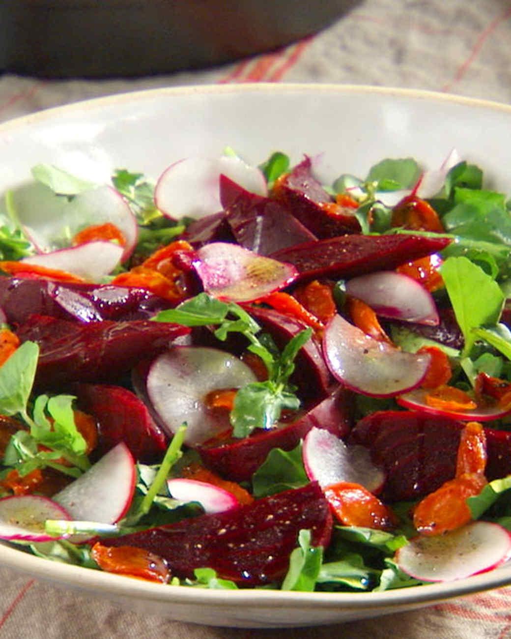 Beet, Carrot, and Watercress Salad