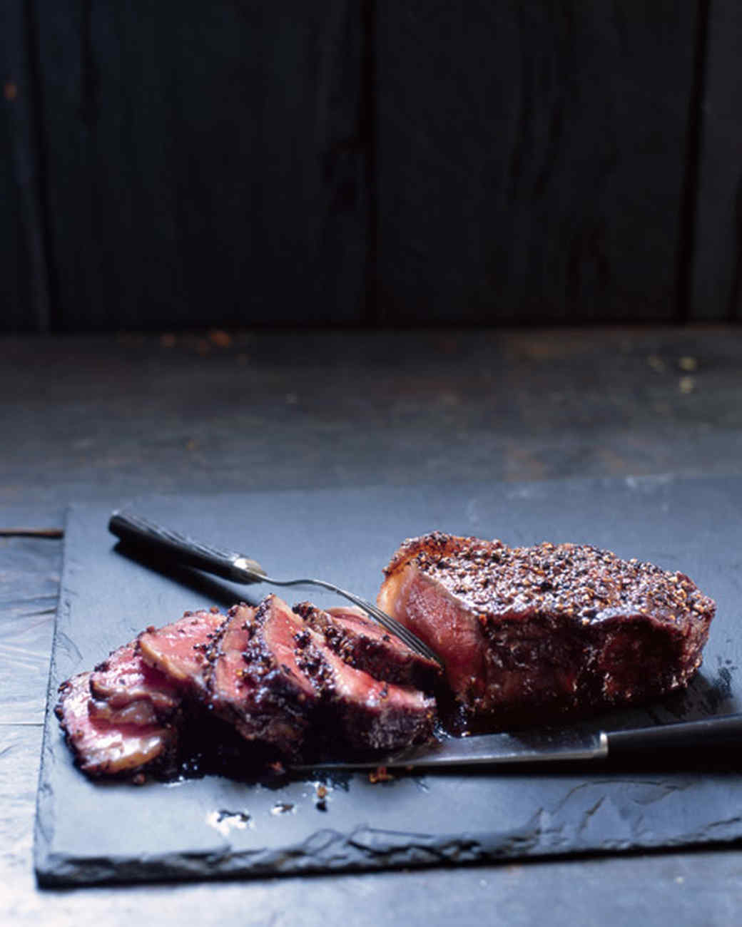 Steak au Poivre with Balsamic Reduction Recipe & Video | Martha ...