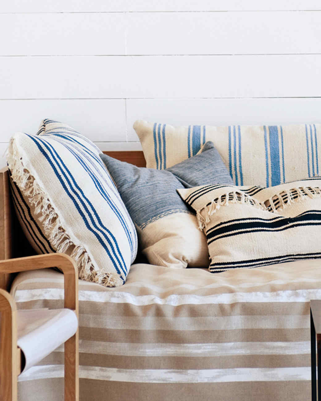 Striped Rug Pillows
