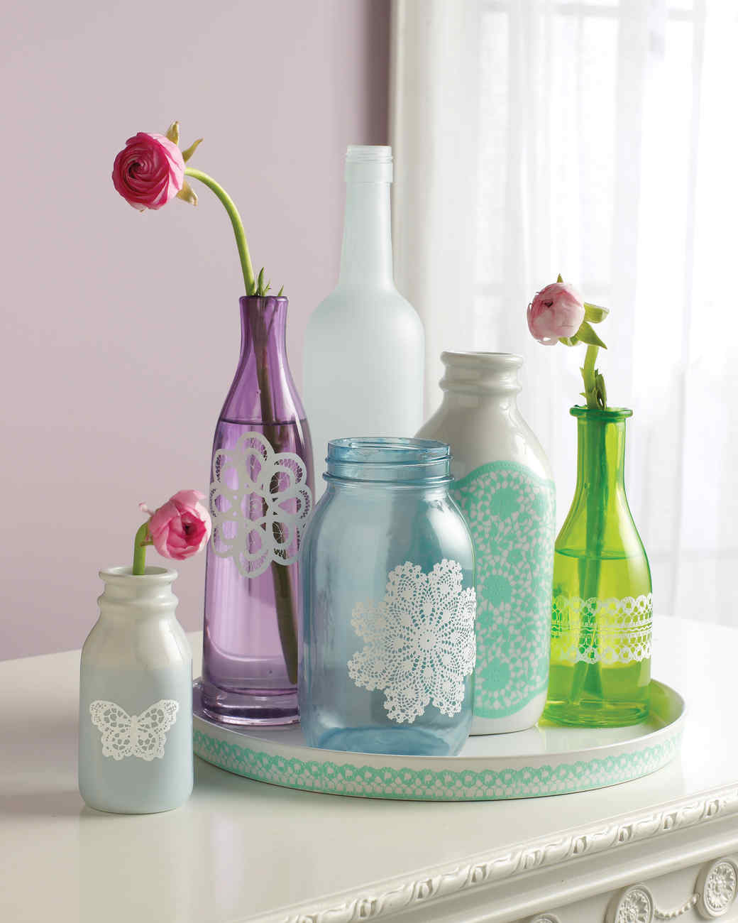 Gussied-Up Glass: 20 Crafts Made Using Martha Stewart ...