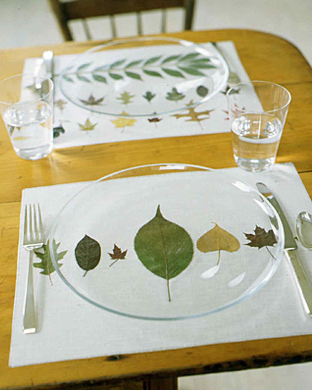 Pressed-Leaf Place Mats