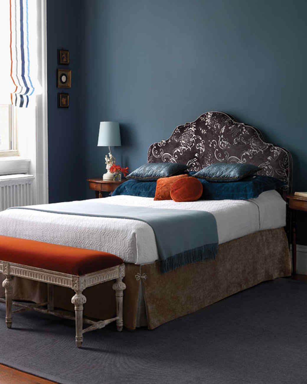 Bedroom Decorating Ideas Blue And Orange blue rooms | martha stewart
