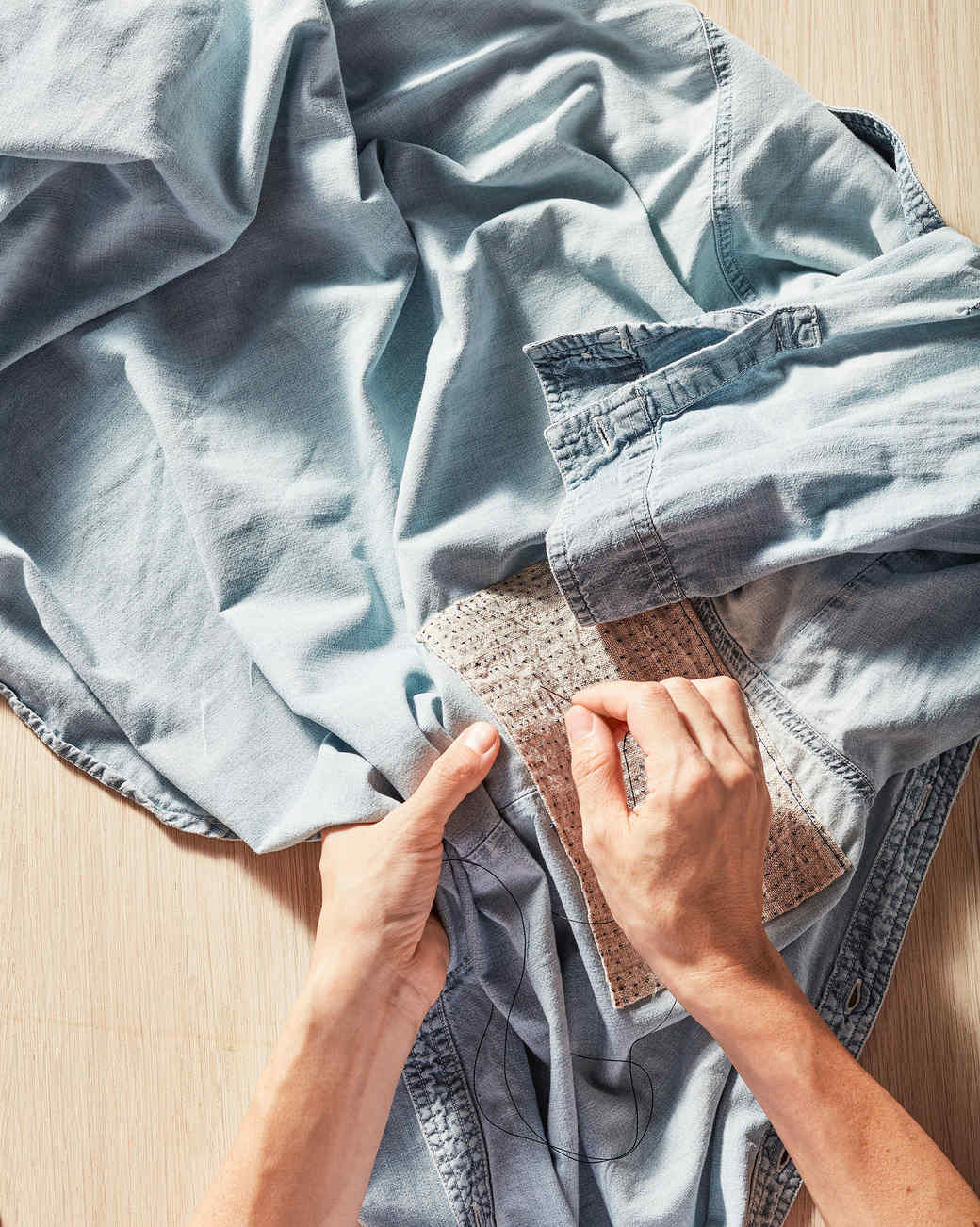 4969875229 Clothing Repair 101  How to Patch a Hole