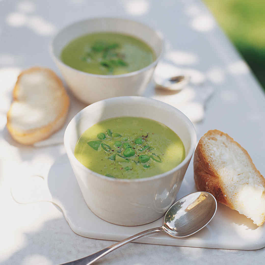 Garden and Snap Pea Soup with Vidalia Onions