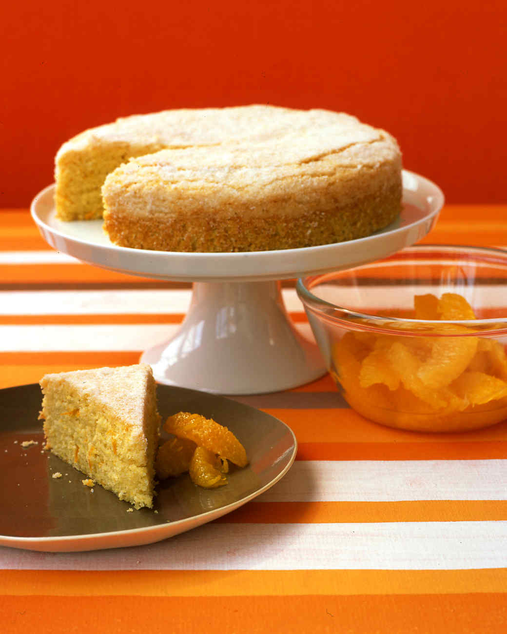 Orange Cornmeal Cake Recipe & Video | Martha Stewart