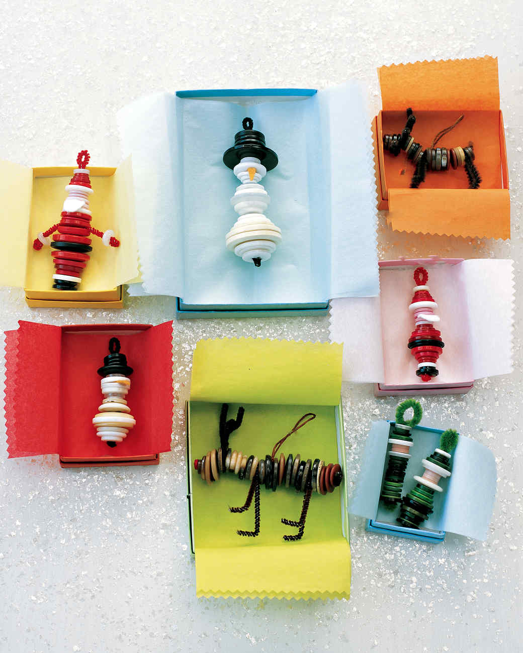 Button ornaments martha stewart for Holiday project