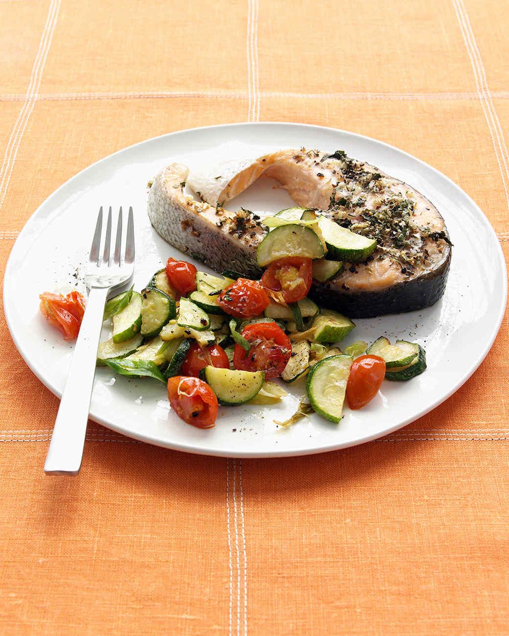 Herb-Rubbed Salmon Steak