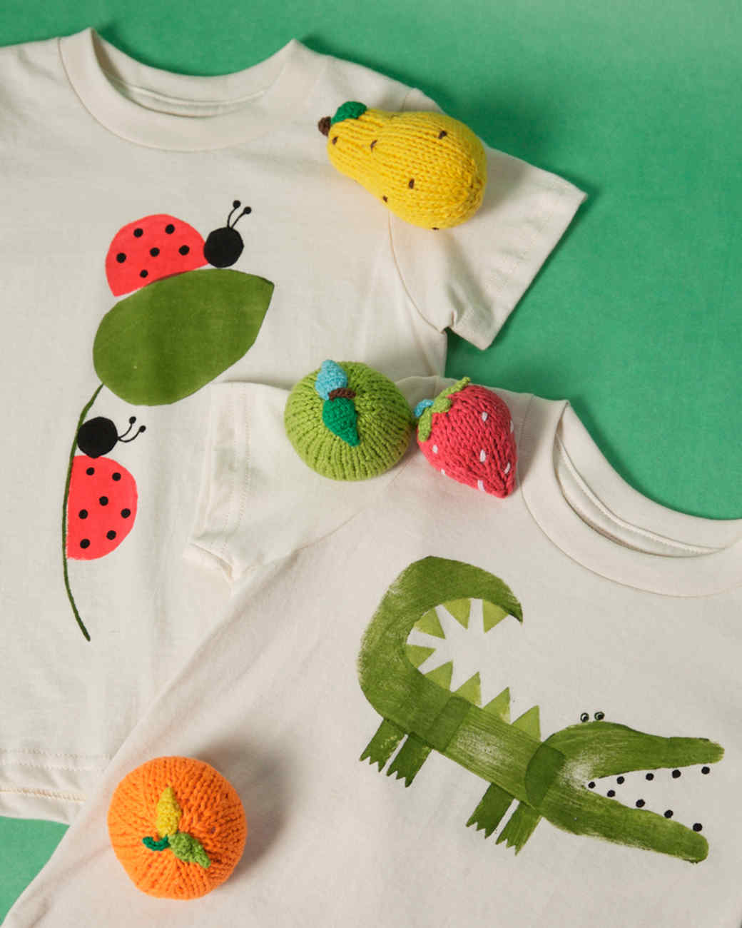 Potato-Print Baby Clothes