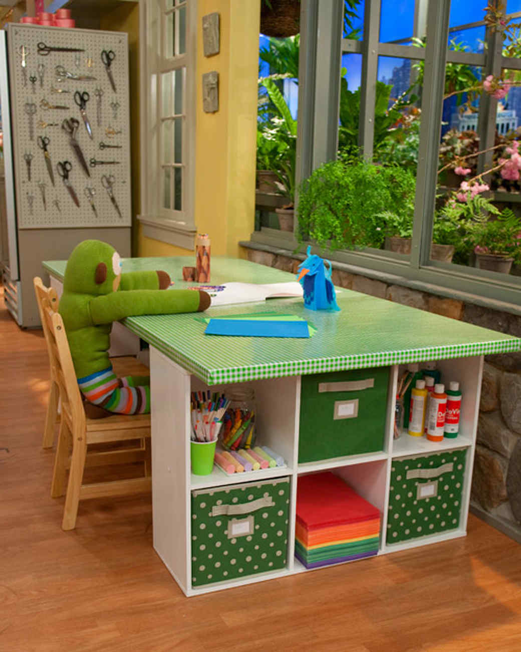 colorful crafting table video martha stewart kids table with