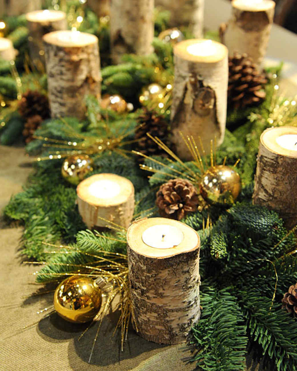 birch candles - Birch Christmas Decorations