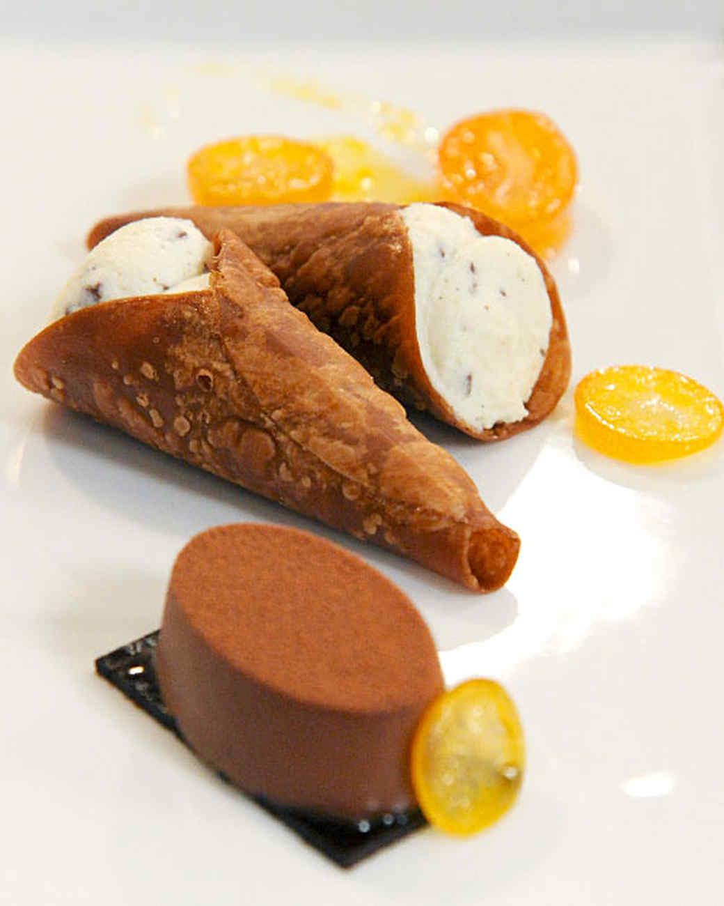 Ricotta-Filled Chocolate Cannoli