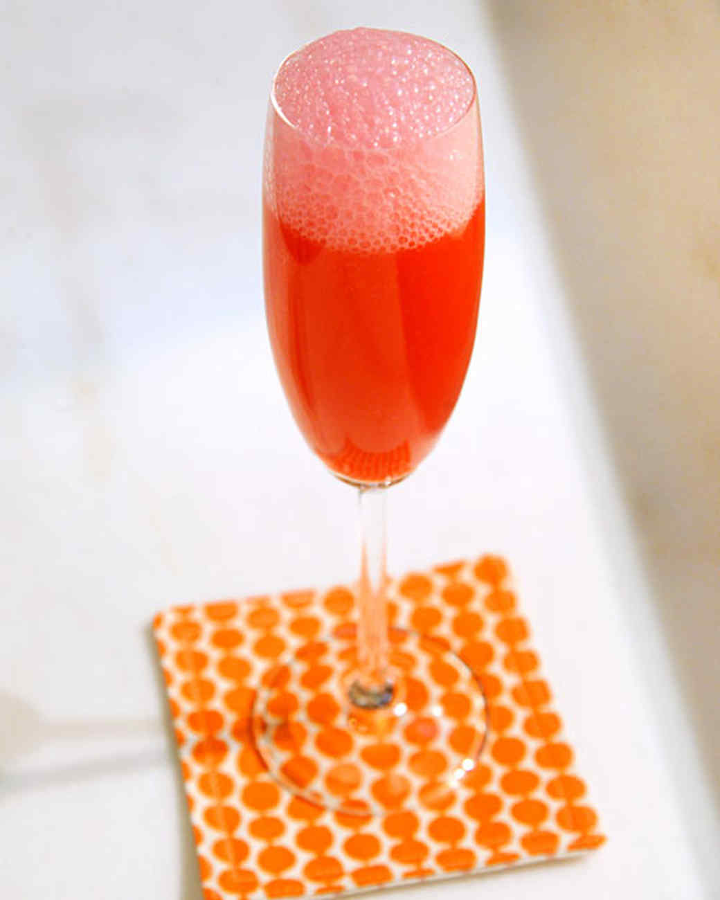 Rhubarb Elderflower Bellini