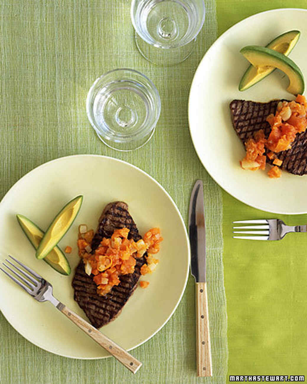 Steak with Spicy Papaya-Carrot Salsa
