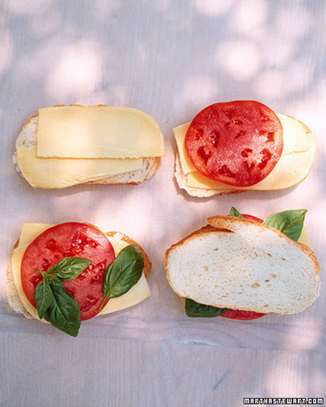 Grilled Cheese with Tomato and Basil