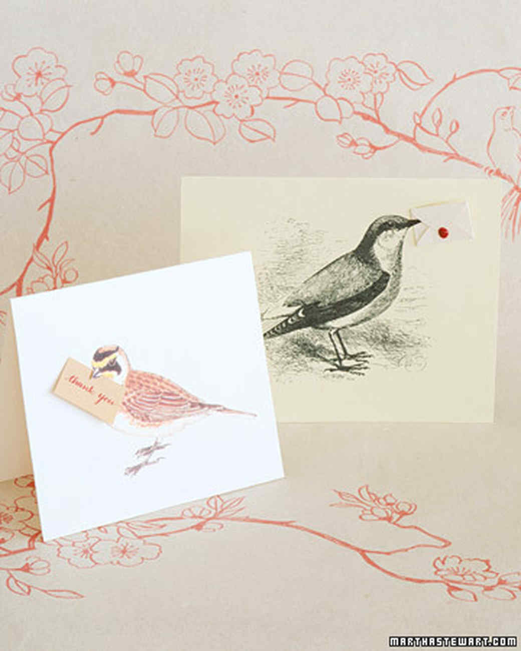 Handmade Thank-You Cards: Messenger Birds