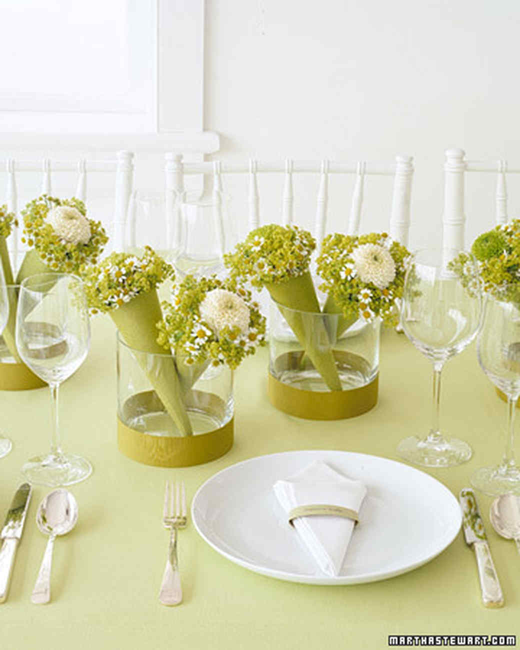 Simple baby shower centerpieces martha stewart for Table arrangements