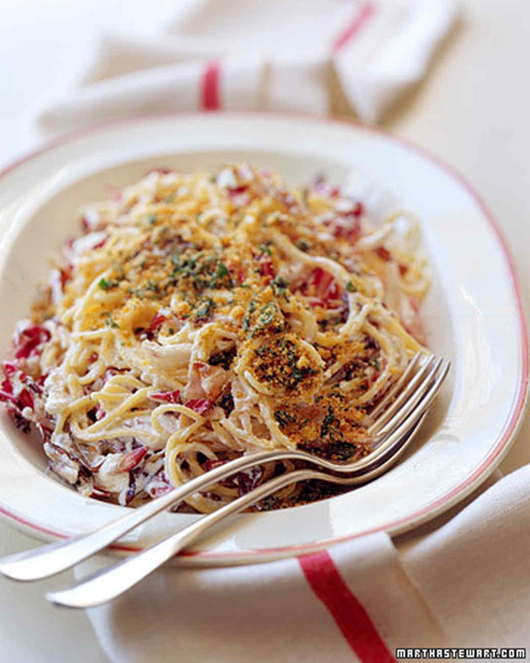 Spaghetti with Radicchio and Ricotta