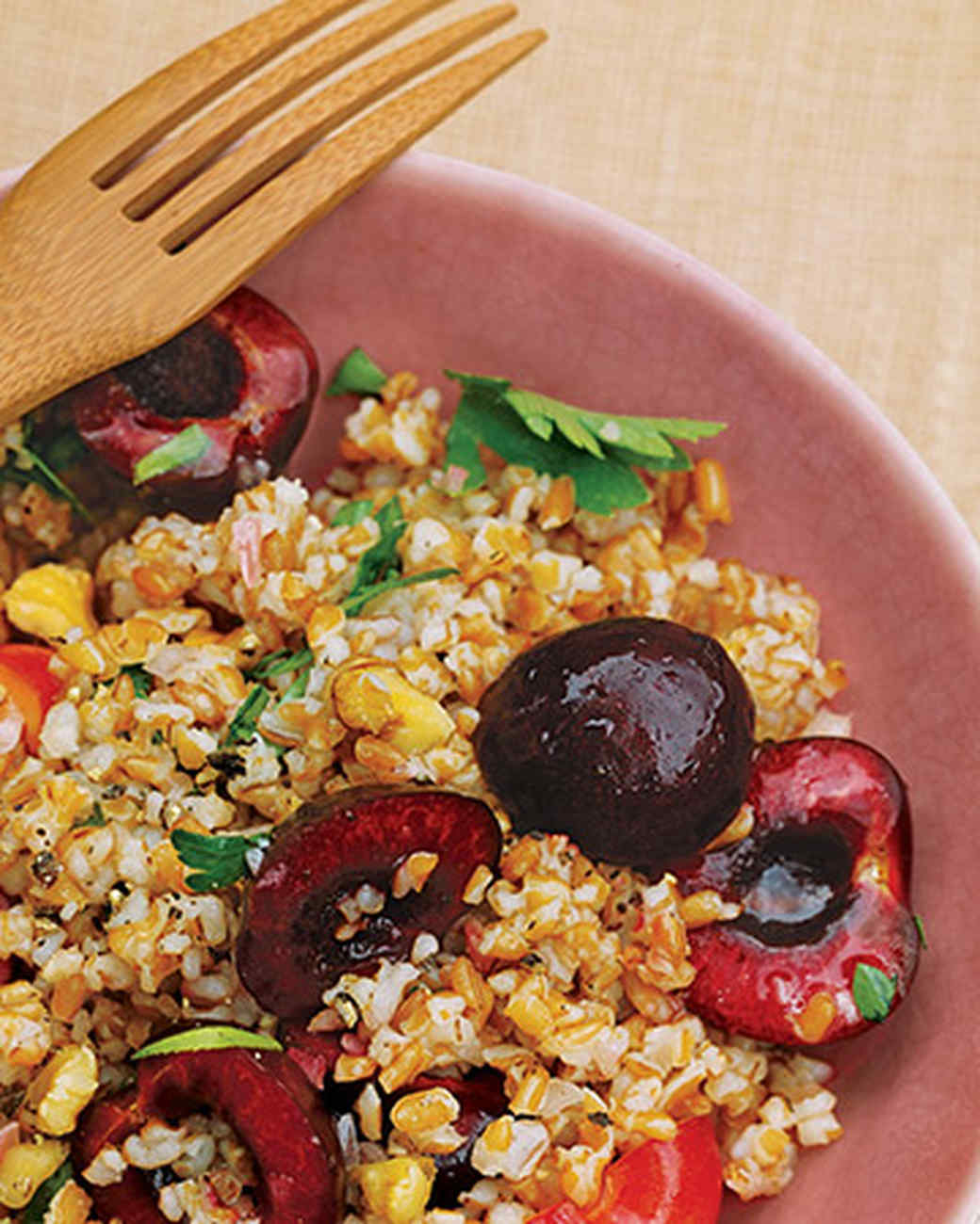 Bulgur Salad with Cherries