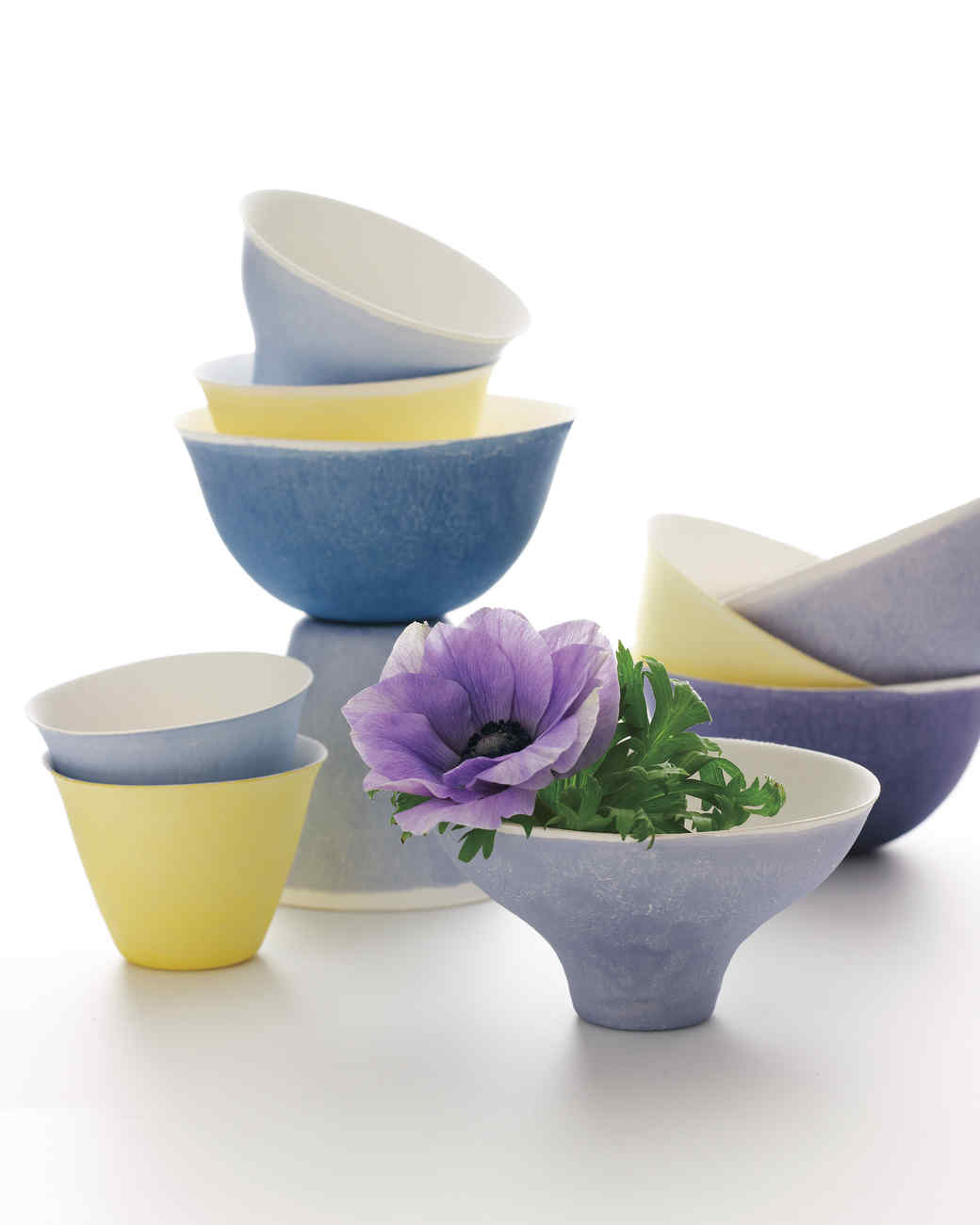 Dip-Dyed Cups and Bowls