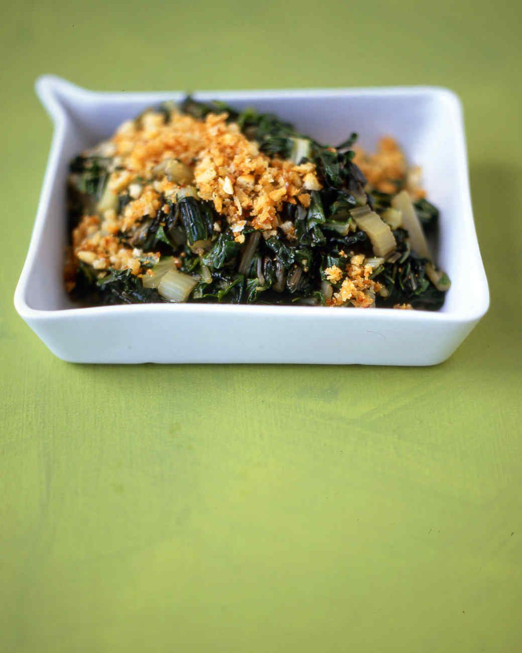 Easy Swiss Chard with Toasted Breadcrumbs