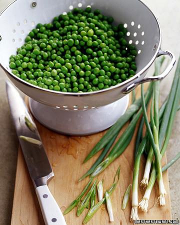 Sauteed Peas and Scallions