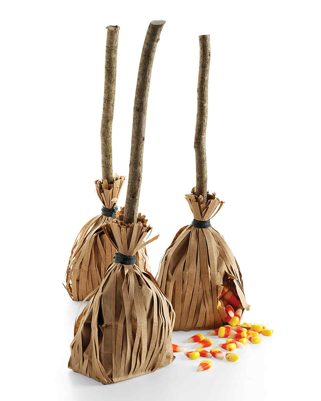 Halloween Broom Candy Bags How-to