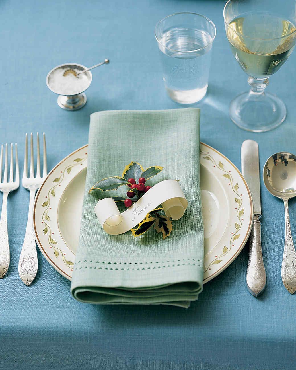 Set a Dickensian Table & Holiday Table Settings | Martha Stewart