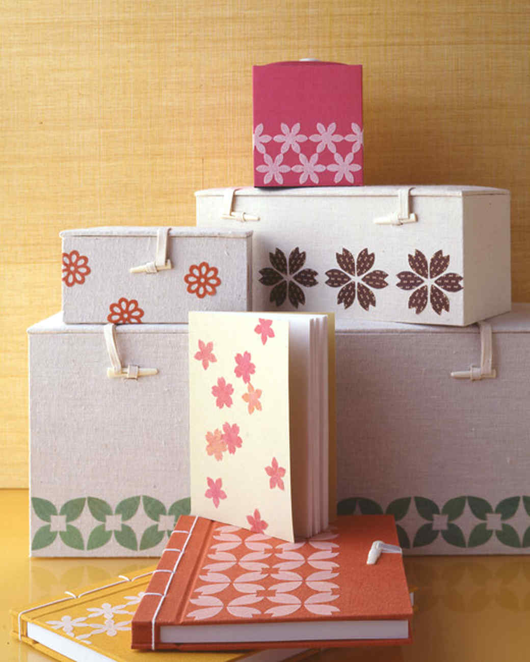 Floral Fabric Boxes and Journals