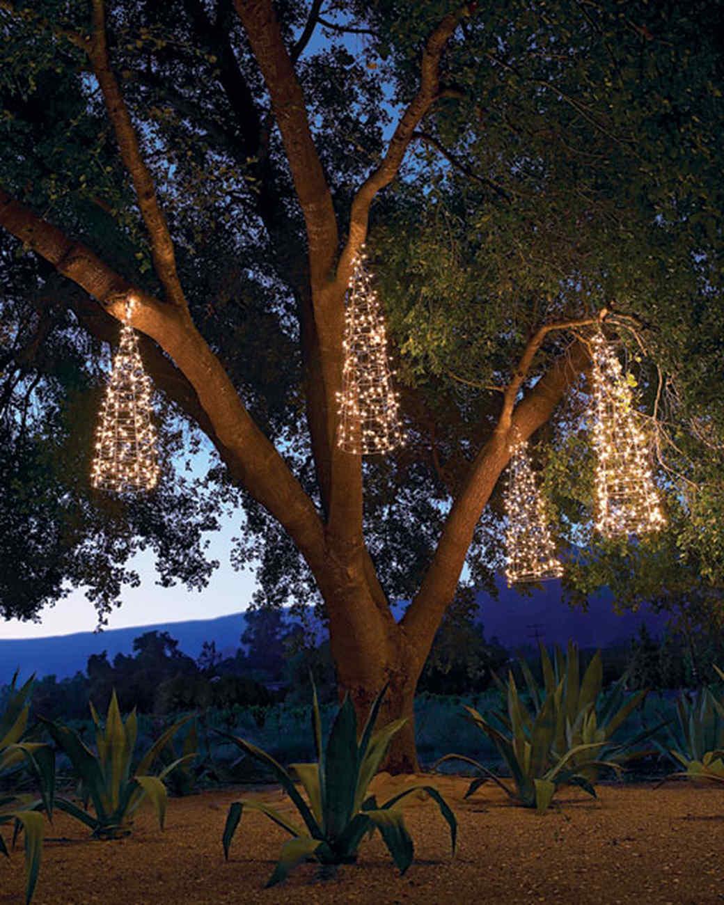 Outdoor Lighting: Hanging Trees