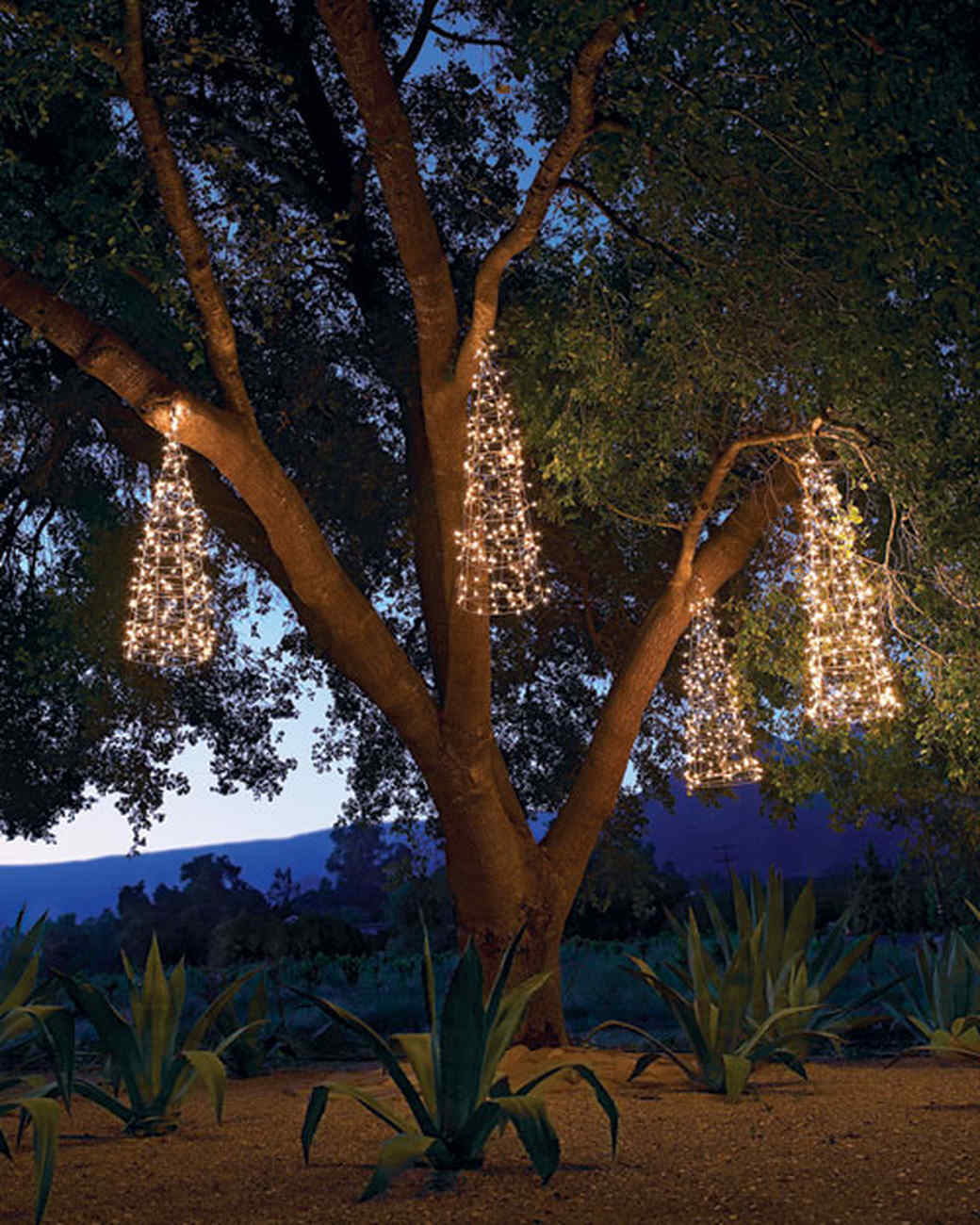 Delightful Outdoor Lighting: Hanging Trees