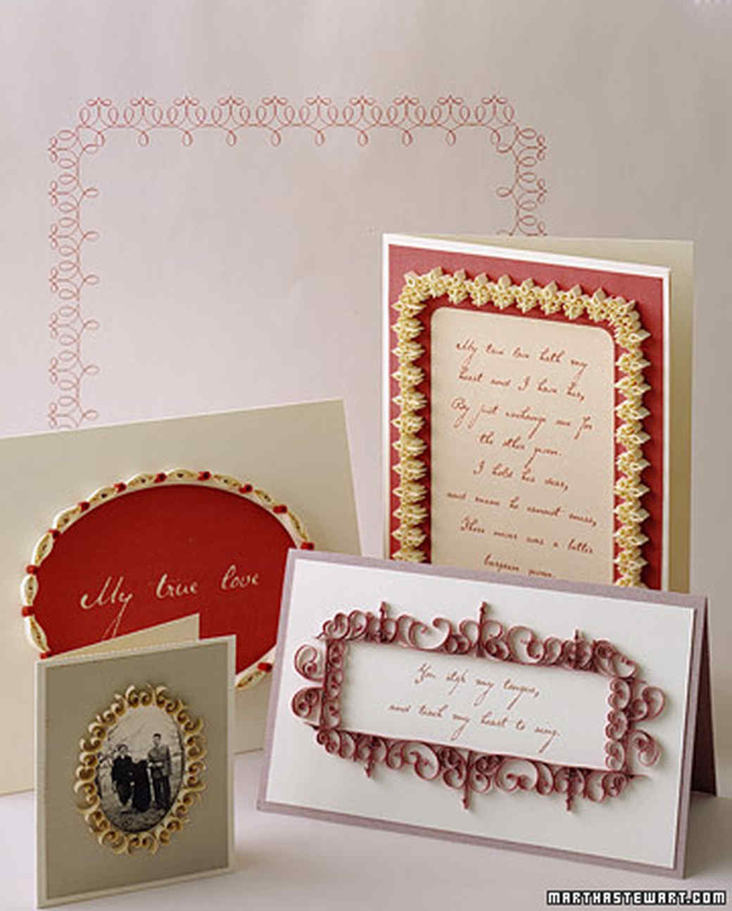 Quilling Valentines: Frame Card