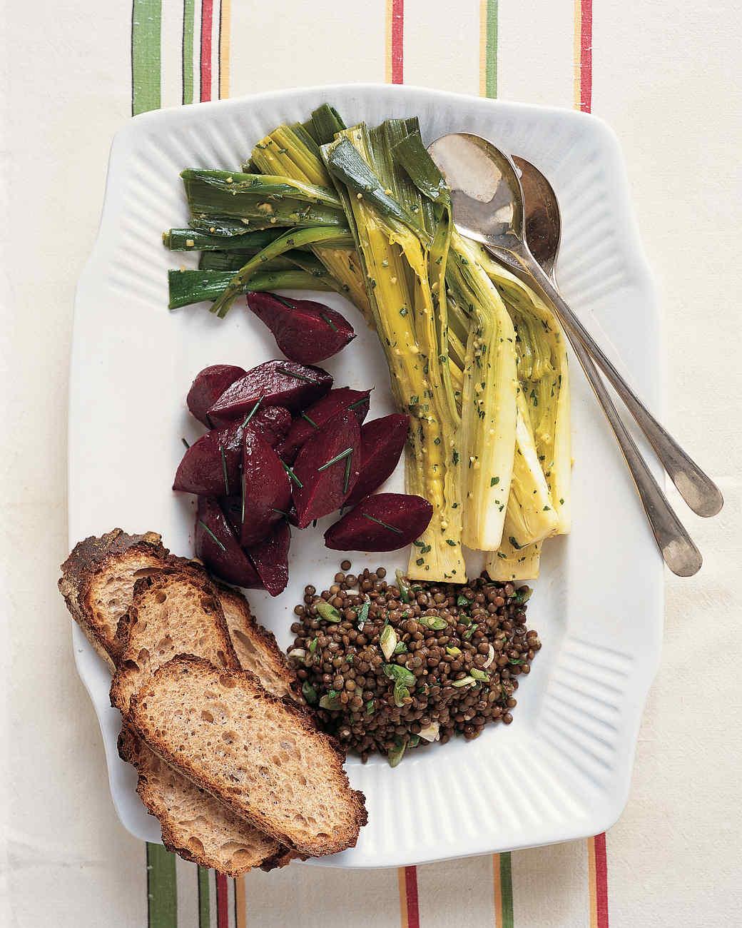 Leeks with Mustard Vinaigrette
