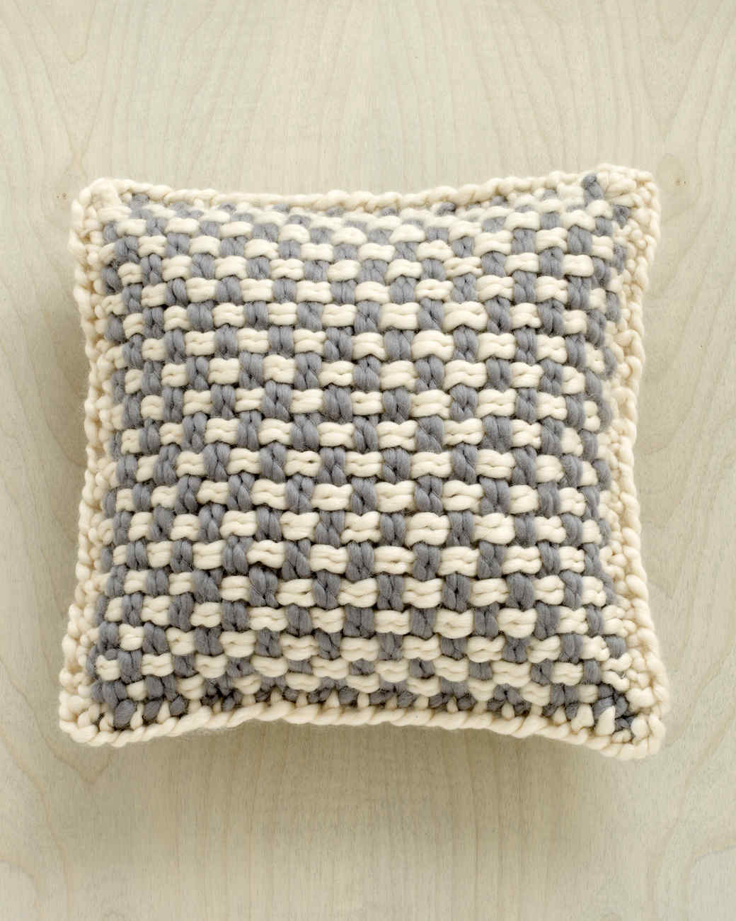 Martha Stewart Crafts Lion Brand® Yarn Lofty Wool-Blend Loom-Woven Tonal Pillow