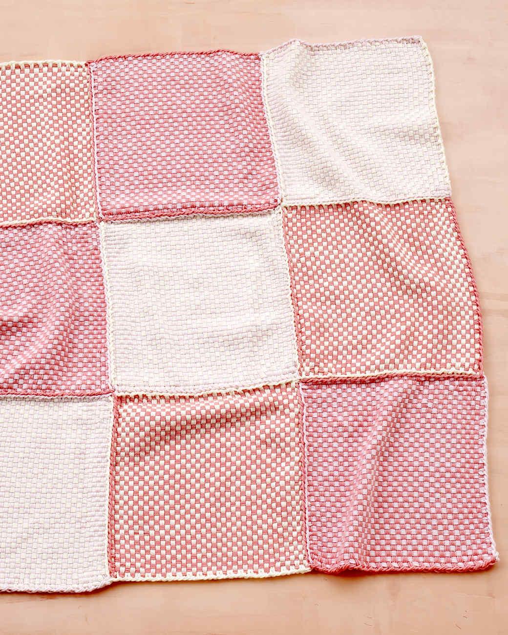 Martha Stewart Crafts Lion Brand® Yarn Extra Soft Wool Blend Loom-Woven Pretty Pink Baby Throw