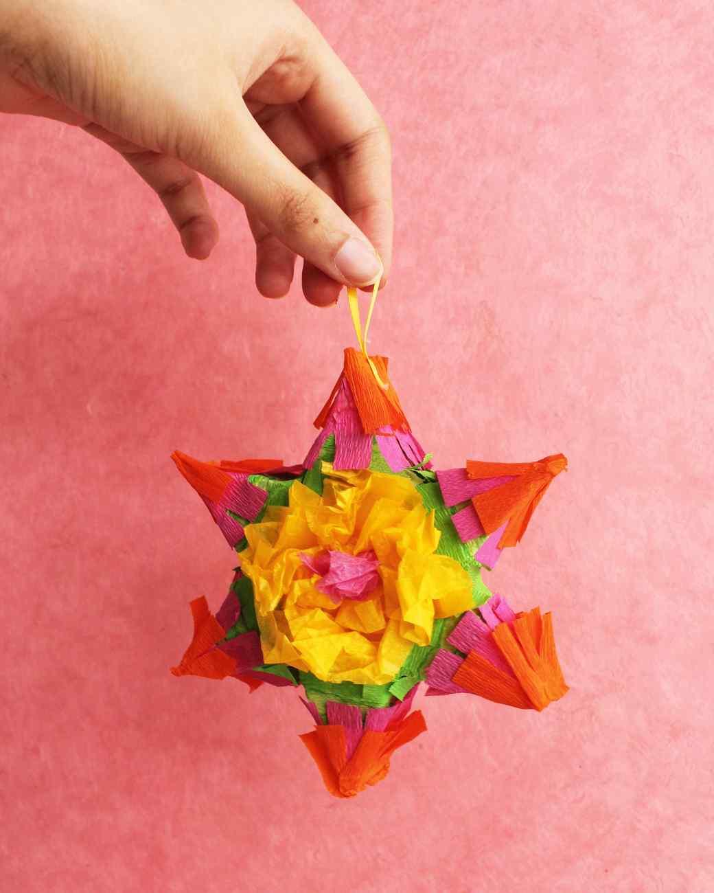 Miniature Mexican Star Piñatas
