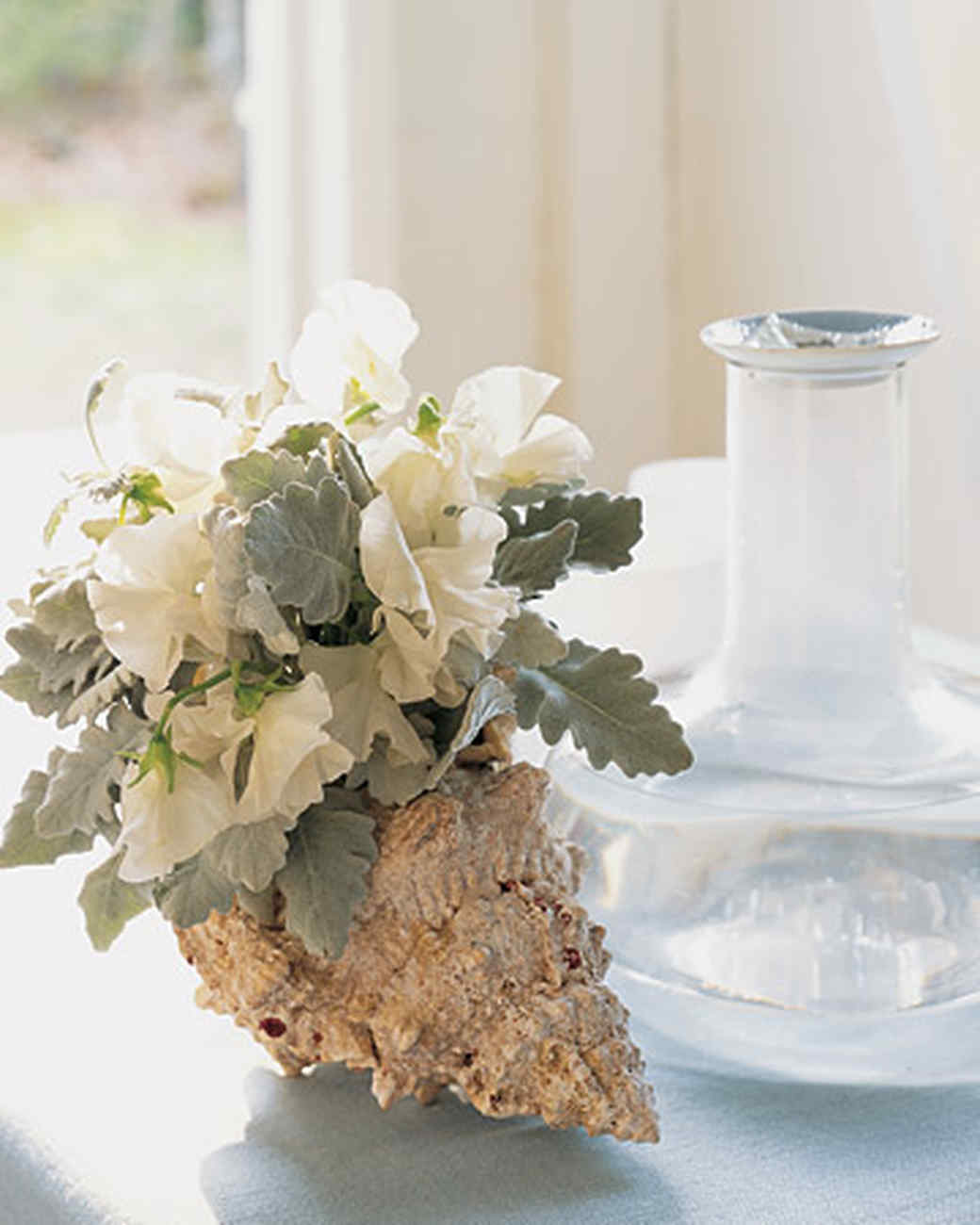 Flower Arrangement In A Seashell Martha Stewart