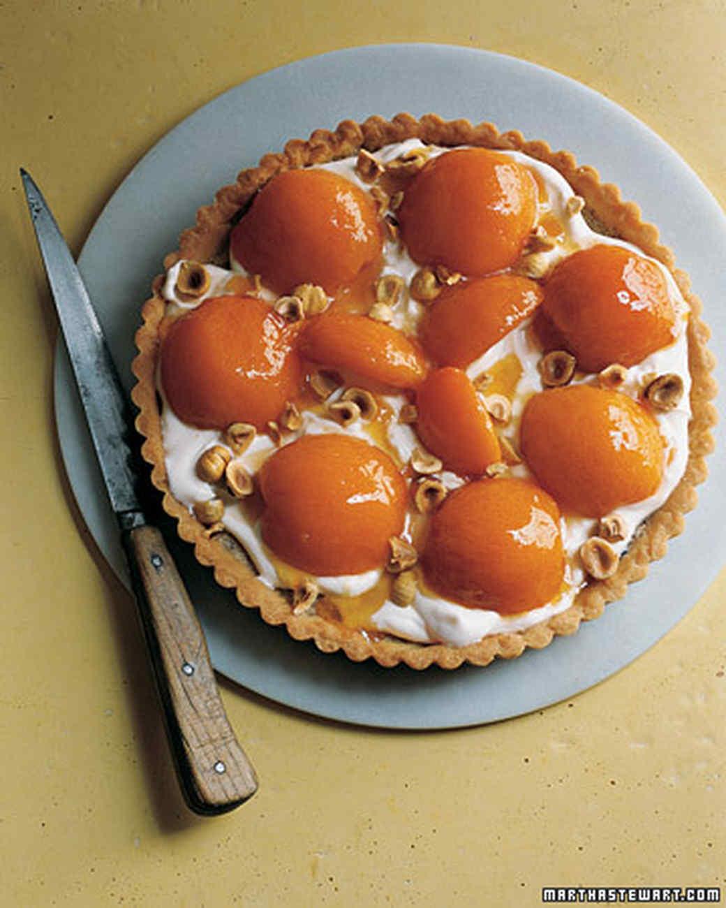 Hazelnut Frangipane Tart with Apricots and Softly Whipped Creme Fraiche