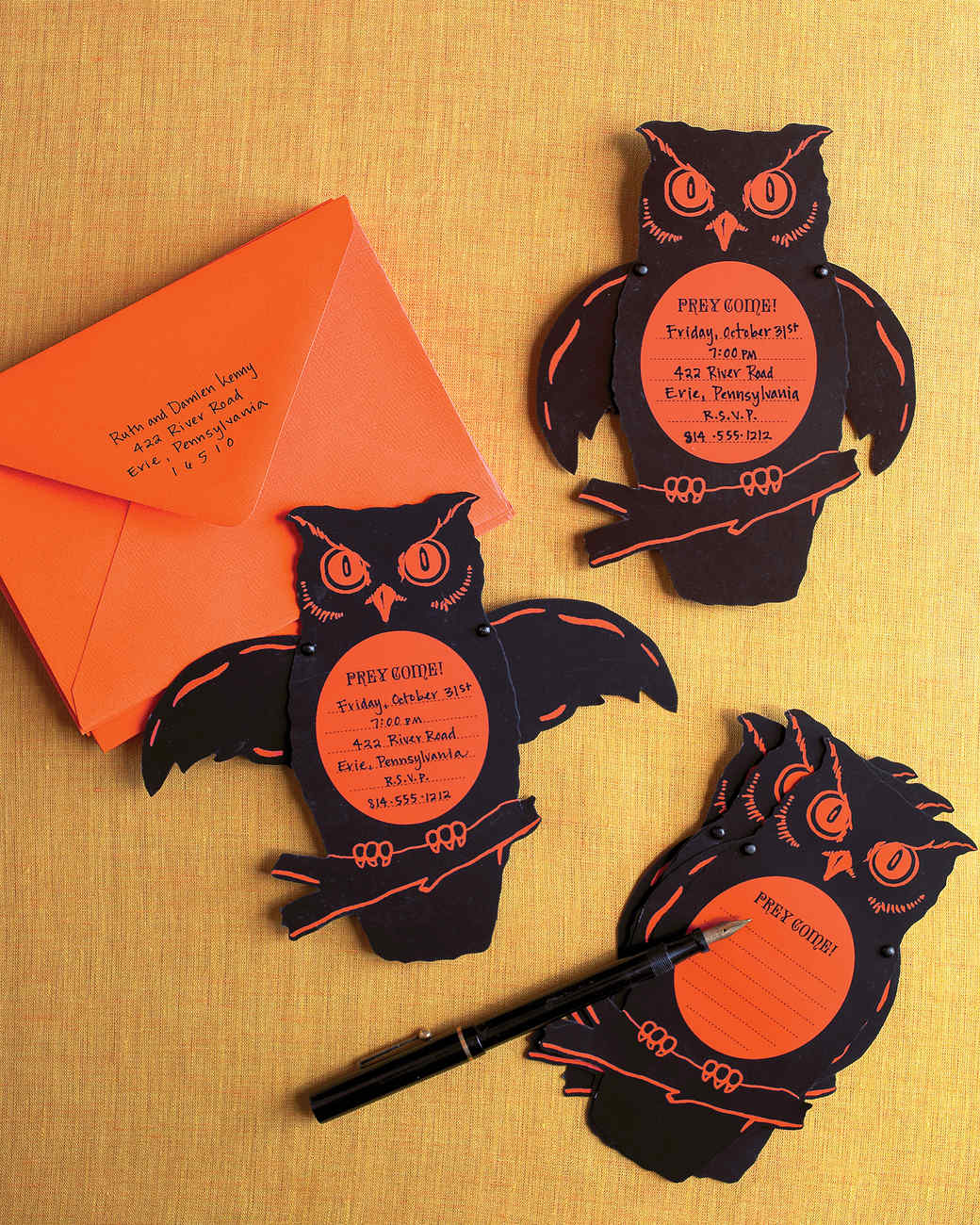 Handmade Halloween Invitations and Cards | Martha Stewart
