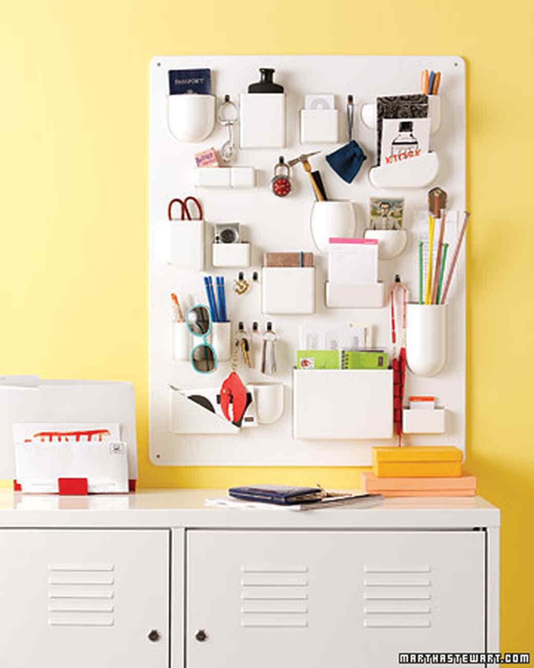 Office Organization Ideas for Disaster-Zone Desks | Martha Stewart