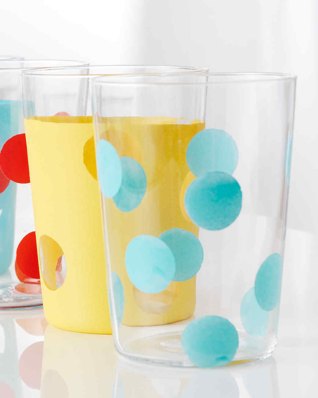 Gussied up glass 20 crafts made using martha stewart for Martha stewart glass paint colors