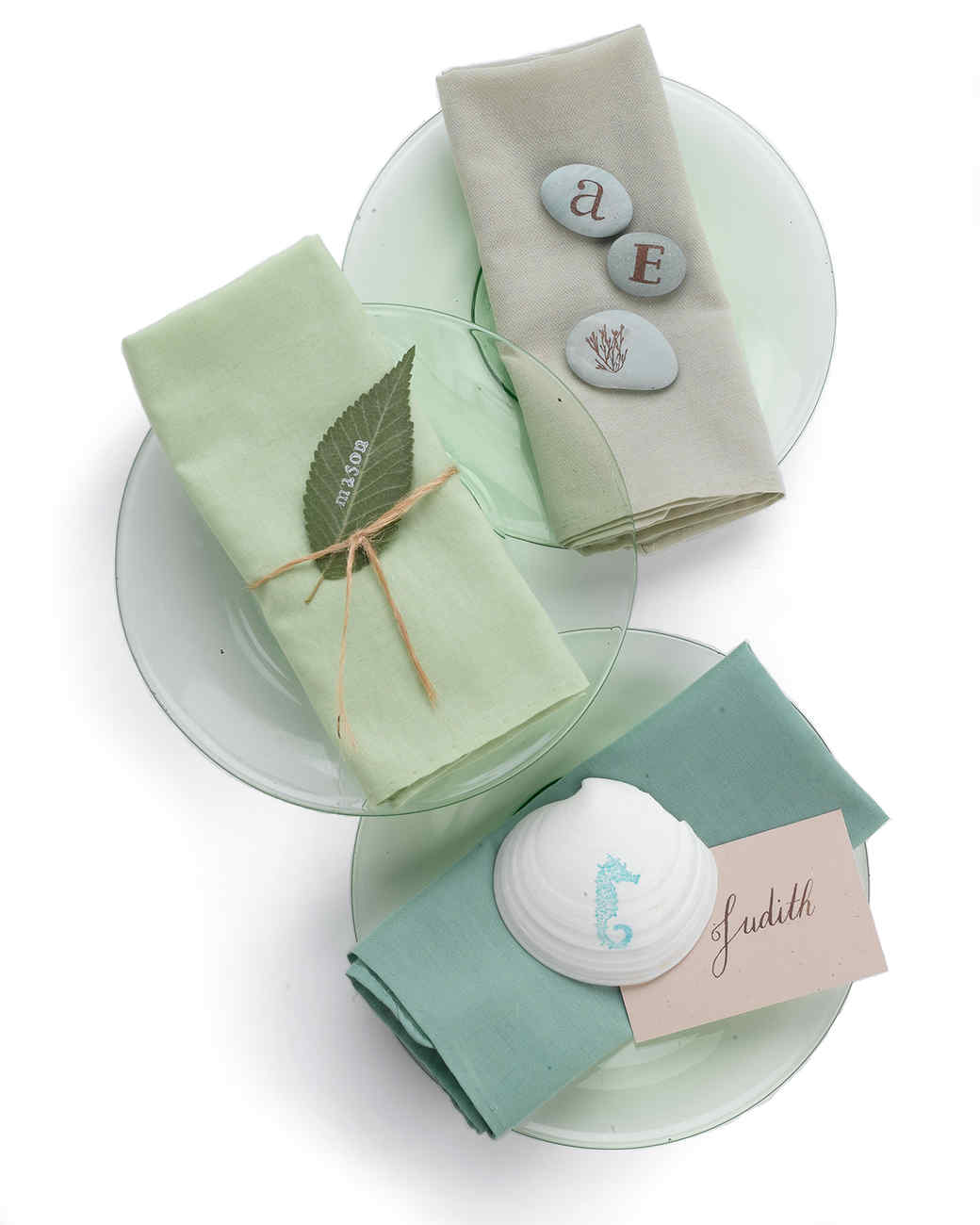 Rubber-Stamped Place Cards