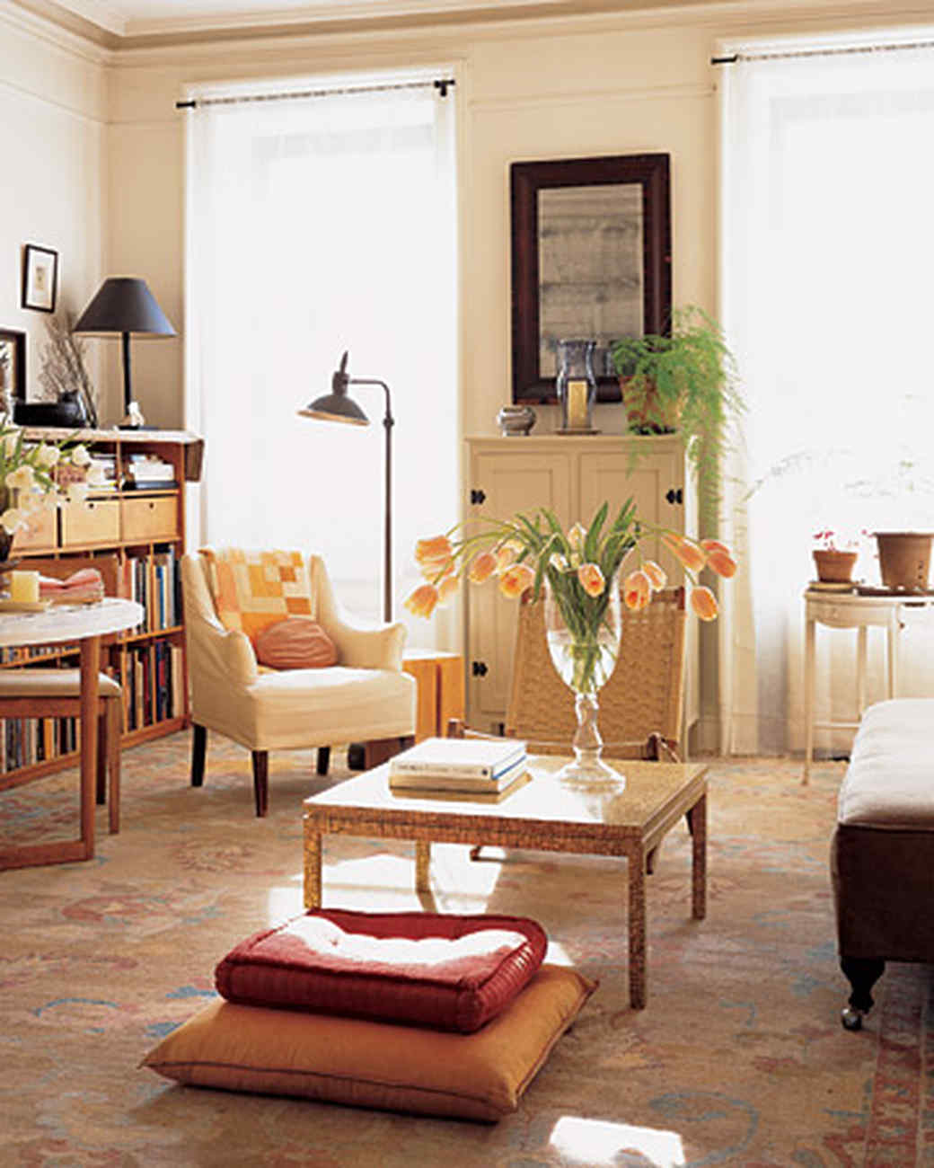 The Living Room Home Tour  Brooklyn Apartment Martha Stewart