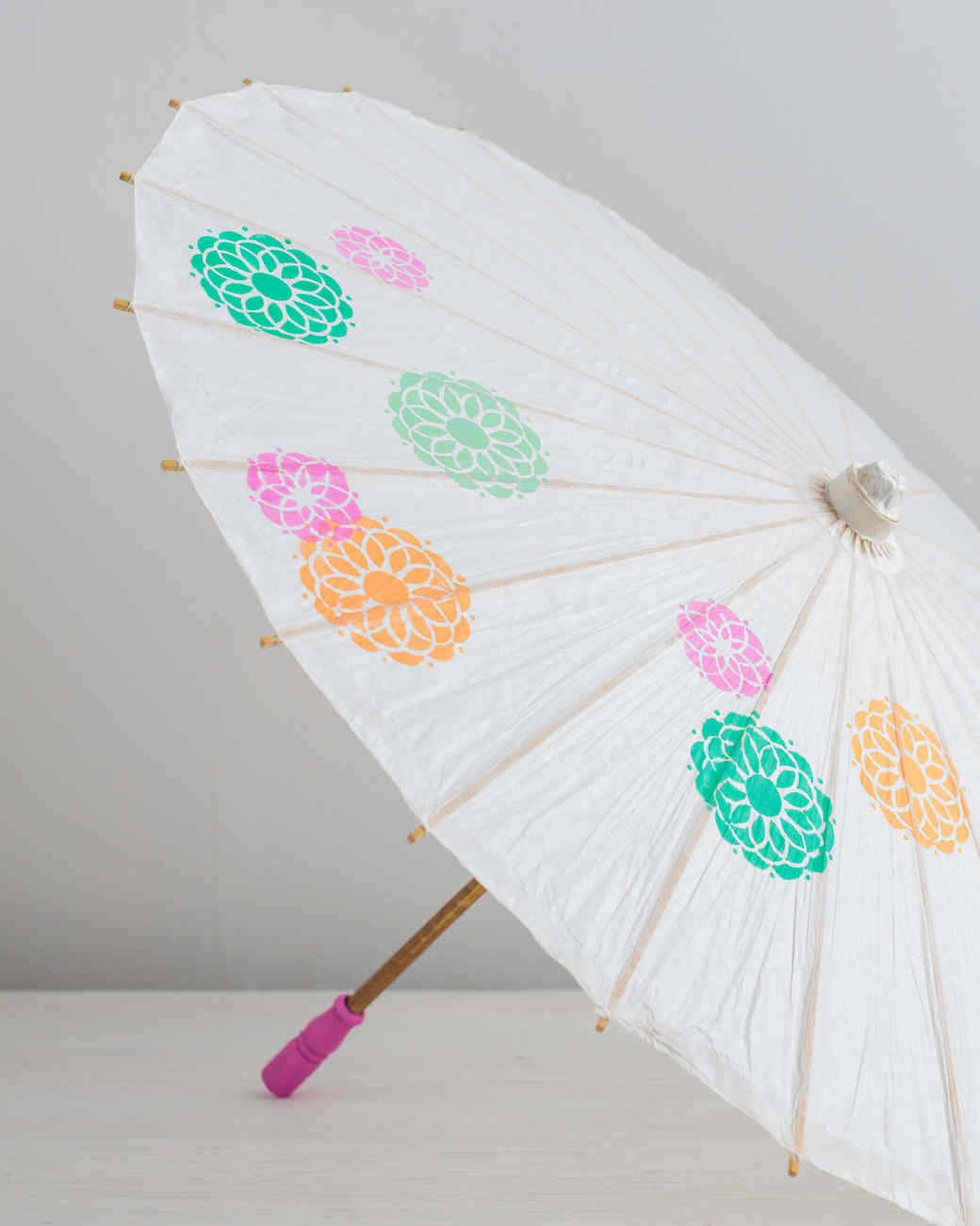 Stenciled Paper Parasol