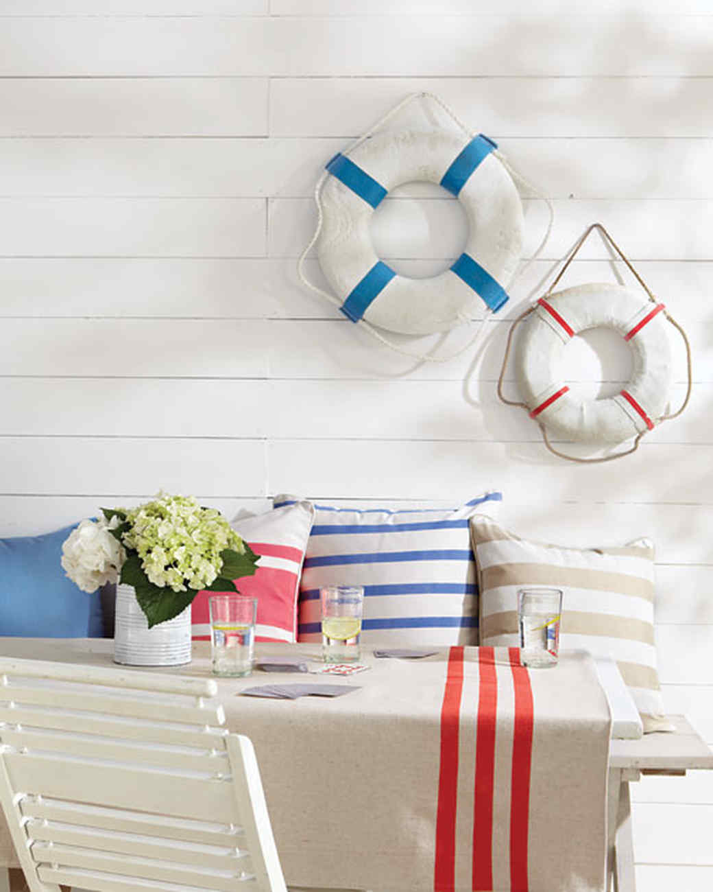 decorate your patio with painted pillows - Outdoor Decorations For Summer