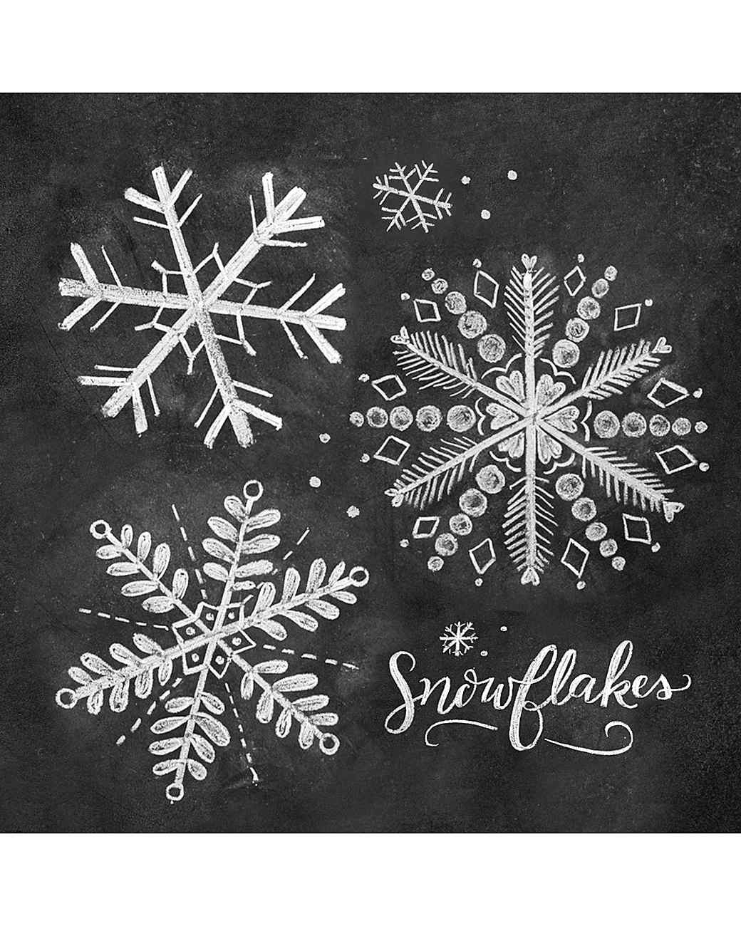 How to Draw Ornate Snowflake Chalk-Art | Martha Stewart