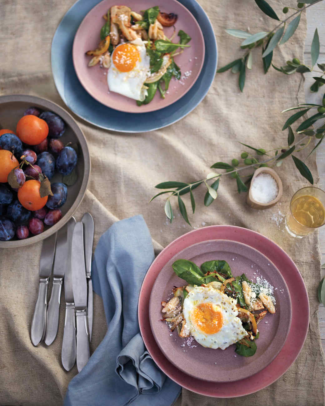 Cavatelli with Spinach, Caramelized Fennel, and Fried Eggs
