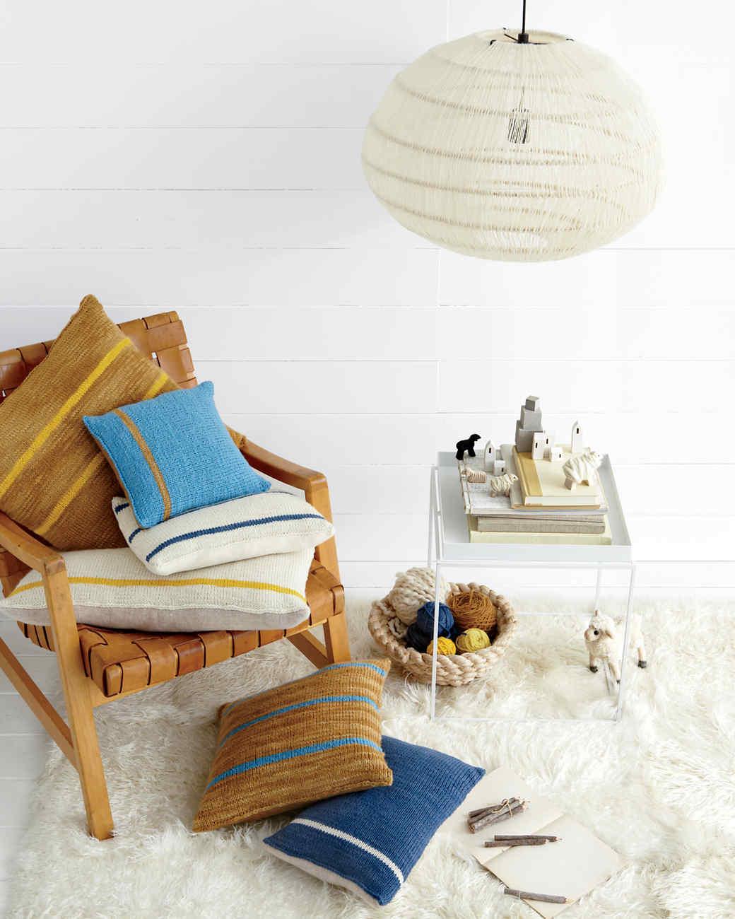 Knit Pillows Martha Stewart