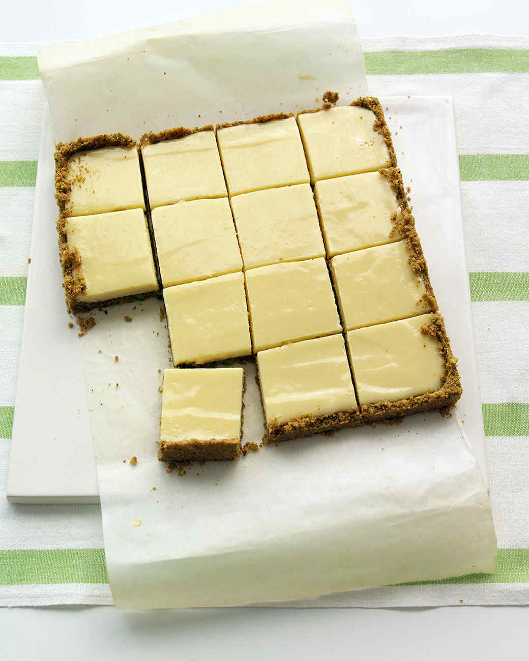 Lime Squares with Pistachio Graham-Cracker Crust Recipe & Video ...
