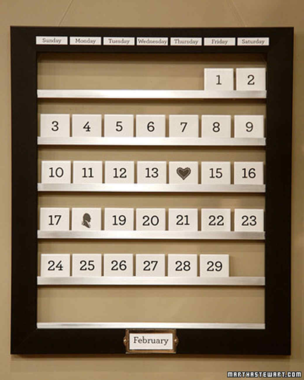 Reusable Tile Calendar