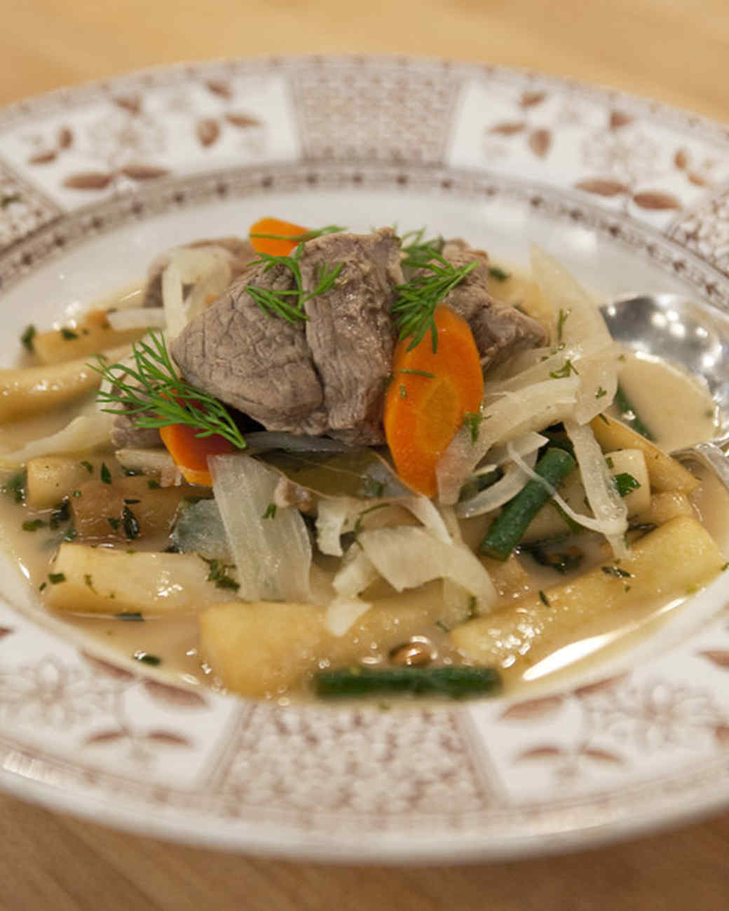 Lamb Stew with Dill Sauce